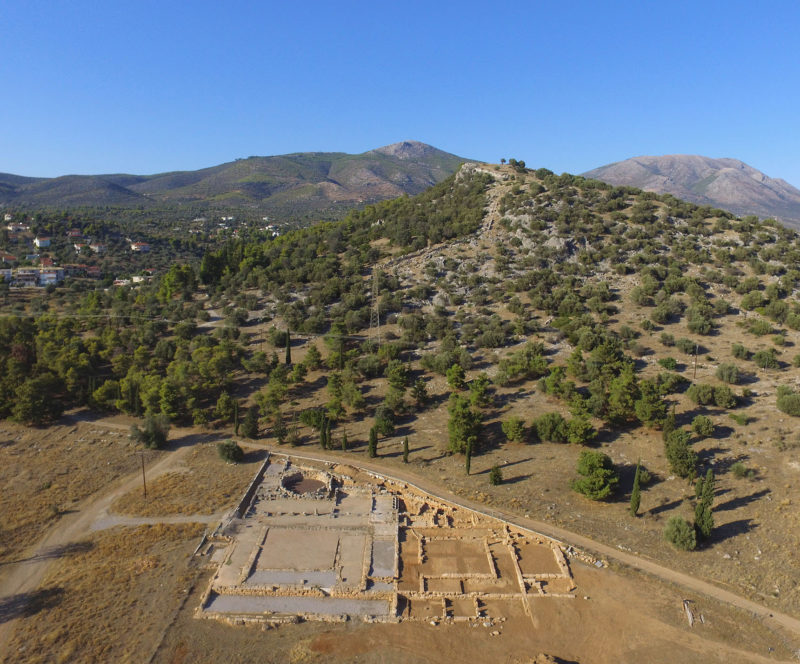 Eretria, the ancient Gymnasium (drone view 2017)