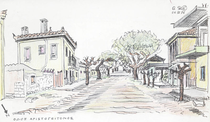 Neoclassical buildings in Eretria (P. Hofer archives)