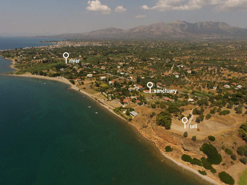 Amarynthos, situation of the sanctuary