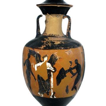 Panathenaische Amphore (Eretria, 363/2 v. Chr.)