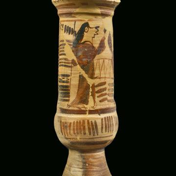 Cruche rituelle  (Érétrie, milieu du 7e s. av. J.-C.).