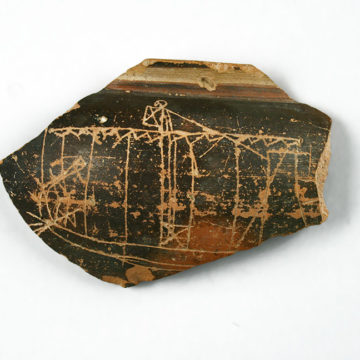 Graffito of a ship (Lefkandi, 8th c. BC)