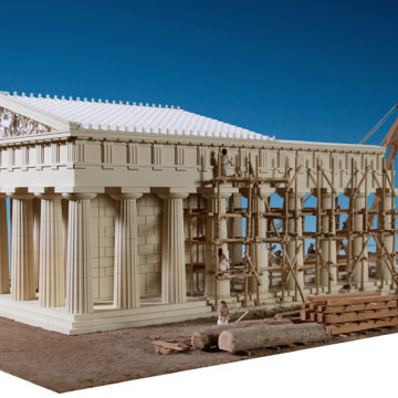Model of the Doric temple of Apollo