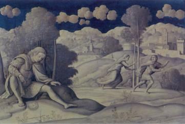 Narcisse. Painting by Girolamo Mocetto (Musée Jacquemart-André, Paris)