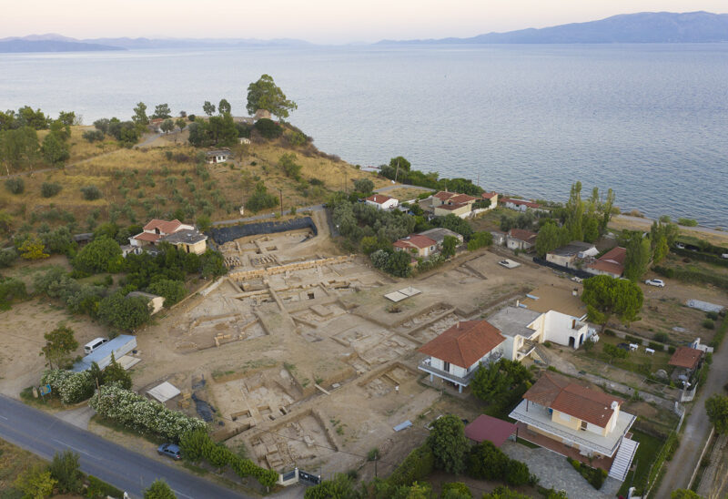 The excavation site at Amarynthos-Palaeoekklisies (2019)