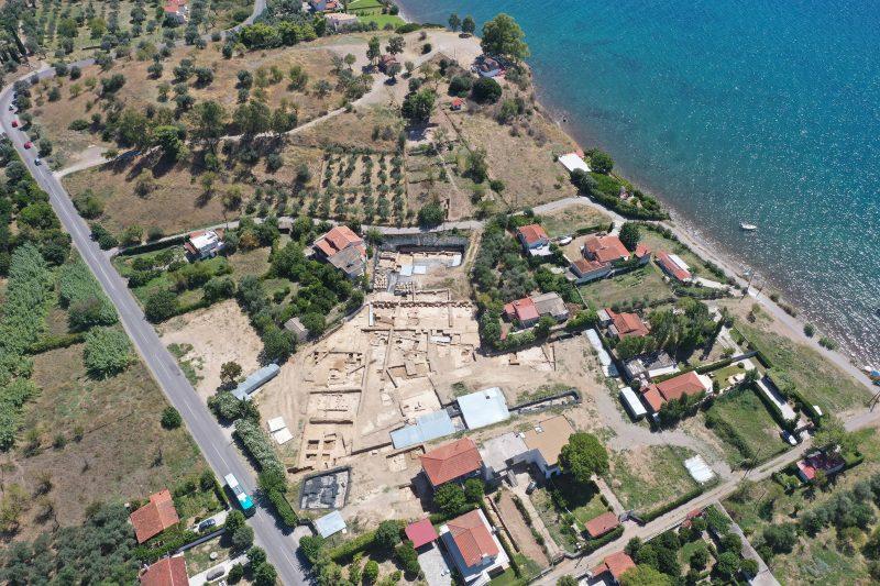 Χώρος της ανασκαφής στην Αμάρυνθο-Παλαιοεκκλησιές (2020)